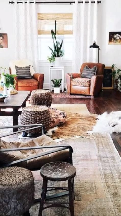 Rustic farmhouse style living room ideas and inspiration