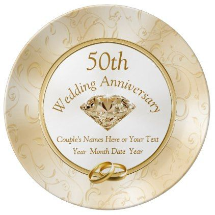 50th Anniversary Gift Ideas For Friends Family Plate Zazzle Com