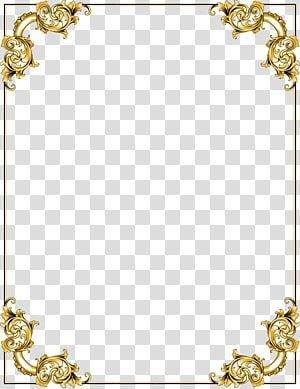 Gold Floral Boarder Illustration Frame Gold Border Frame Transparent Background Png Clipart Transparent Background Musical Notes Art Clip Art
