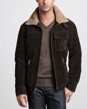 THE WALKING DEAD RICK GRIMES ANDREW LINCOLN 100/% SUEDE LEATHER JACKET-BNWT