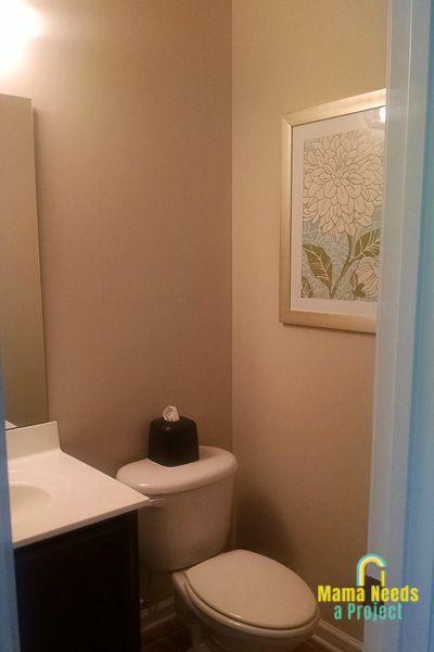Budget Half Bathroom Update Diy Wainscoting Mama Needs A Project In 2020 Bathroom Update Diy Diy Wainscoting Bathroom Update