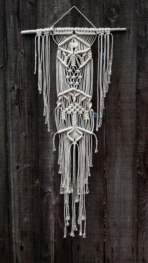 Macramé Wall Hanging on Drift Wood