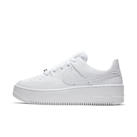 c2529817241 Nike Air Force 1 Sage Low Women s Shoe Size 12 (White)