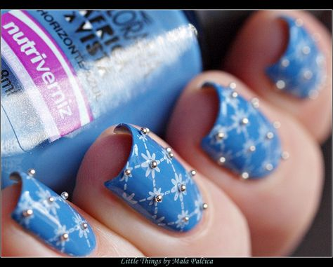 Little things that make me happy: Stamping - Caviar Manicure with Colorama Africa A Vista Horizonte Azul & Born Pretty Plate BP-L015