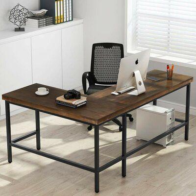Williston Forge Marcum Solid Wood L Shaped Desk L Shaped Desk Desk Furniture Solid wood l shaped desks