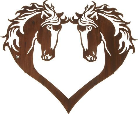 Heart Of Horses Western Lazer Metal Wall Art Free Shipping Our Romantic Depiction Of Two Horses For Horse Wall Art Rustic Metal Wall Art Metal Tree Wall Art