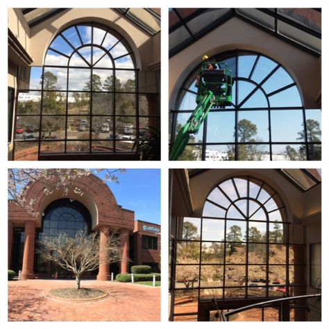 Recent Window Tint Installation At Labcorp We Used Night Vision 25 Film On The Large Window And Night Vision 15 Fil 3m Window Film Window Film Tinted Windows