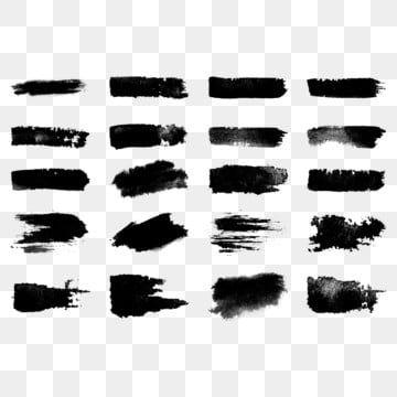 Brush Stroke Design Paint Vector Set Strokes Grunge Background Ink Hand Texture Black Art White Splash Watercolor Draw Paint Set Paint Vector Watercolor Splash