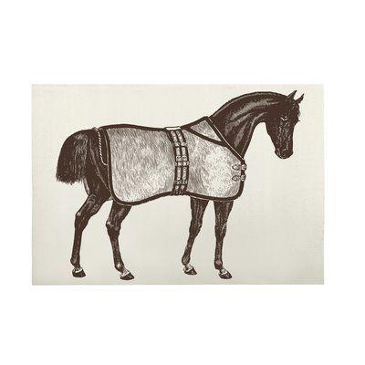Thomas Paul Thoroughbred Rectangle 100 Cotton Bath Rug Cotton Bath Rug Kids Bath Mat Horses