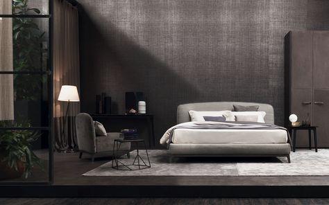 Camere Da Letto Flou.Double Bed Olivier Woven Leather Flou Letti Di Design Design