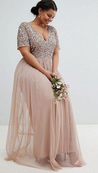 32 Stylish Yet Budget Friendly Plus Size Bridesmaid Dresses Weddinginclude Vestidos Largos Para Boda Vestidos Largos Para Gorditas Vestido Largo Gorditas