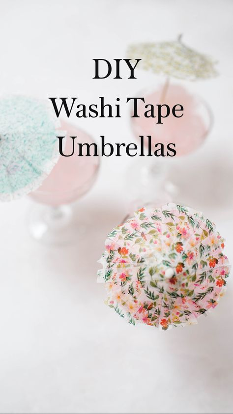 DIY Washi Tape Umbrellas