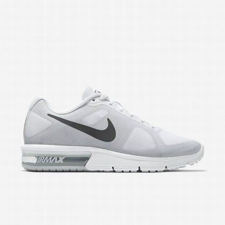 factory authentic 52586 ff550  103.34 nike air max excellerate womens,Nike Womens White Cool Grey Pure  Platinum Metallic Dark Grey Air Max Sequent Running Shoe null ...