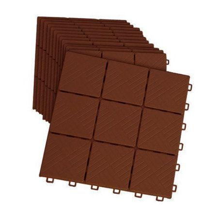 12 Piece Patio Walkway Pavers 11 3 4 X 11 3 4 Set Mocha Color Walmart Com Deck Tiles Patio Paver Patio Patio Tiles