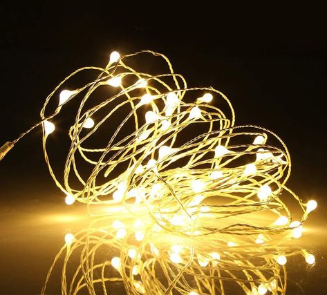 100 LED Micro Copper Wire Fairy String Lights USB Party Wedding Decor Light DIY