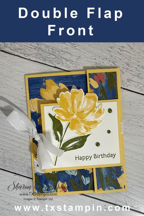 Creative Birthday Cards, Beautiful Birthday Cards, Handmade Birthday Cards, Birthday Card Design, Creative Cards, Fancy Fold Cards, Folded Cards, Card Patterns, Stampin Up Cards