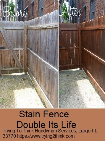 Before And After Our Cedar Tone Fence Stain And Seal On A Cedar