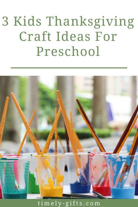 Looking for thanksgiving crafts preschool? This article will have three fun ideas to occupy preschoolers during the autumn season! These crafts are simple for young kids with the help of an adult. Check out these great thanksgiving craft ideas! #thanksgiving #craftideas #preschool #kids #littlekids #craftsforkids #autumncrafts #fallcrafts #thanksgivingcrafts #kidsprojects #schoolprojects #daycareprojects #homeschoolprojects #projectsforpreschoolers #preschooling #preschoolers #autumnprojects