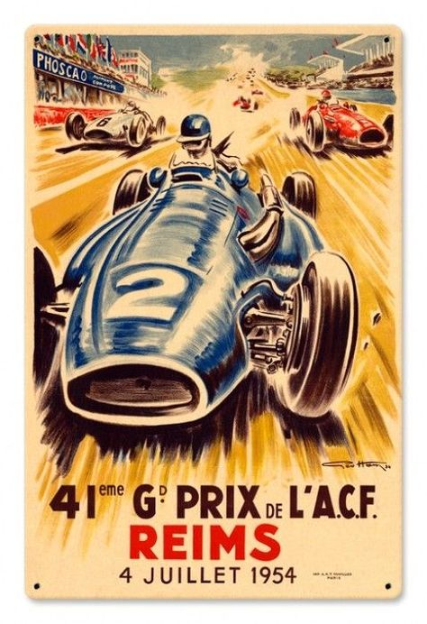 VINTAGE 1955 MASERATI 300S RACE CAR POSTER PRINT STYLE A 24x36 HIGH RES