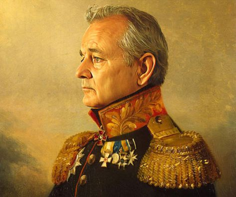 Immortalize your favorite famous person with these brilliant celebrity soldier portraits. These magnificent works of art are regal enough to rival the famous painting of Emperor Napoleon and exhibit your idolatry for a select group of iconic men.