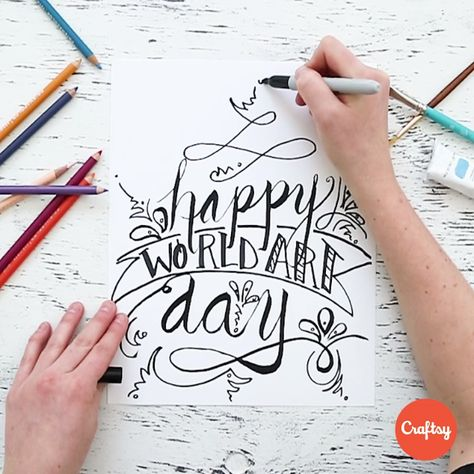 """""""April 15th is World Art Day!  (but really isn't every day world art day when you're creative?) 