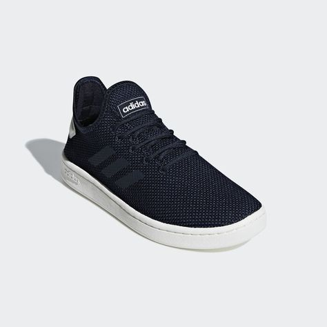 Court Adapt Shoes Dark Blue Womens | Blue shoes, Blue adidas ...
