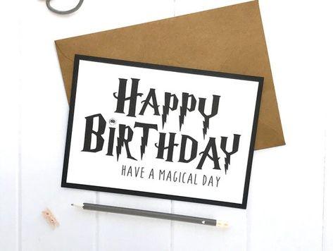 Harry Potter Card Birthday