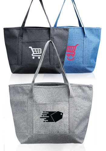 Dungaree Pocket Heathered Tote Bags 103cb Madison Open Pinterest Bag And