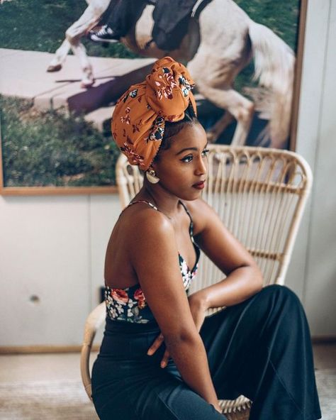 Celebrating all that is black girl magic. Black Girl Fashion, Look Fashion, Turban Mode, Instagram Images, Head Scarf Styles, Scarf Head Wraps, Hair Wrap Scarf, Summer Outfits, Hairstyle Ideas