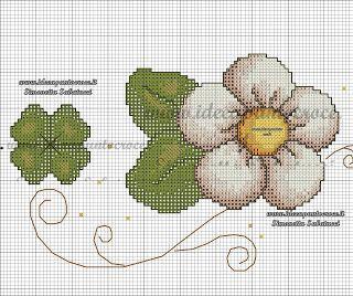 Motivo: Albero della Fortuna con Fiori Benway per Punto Croce con Schema numerato 14 Punti 38 x 38 cm