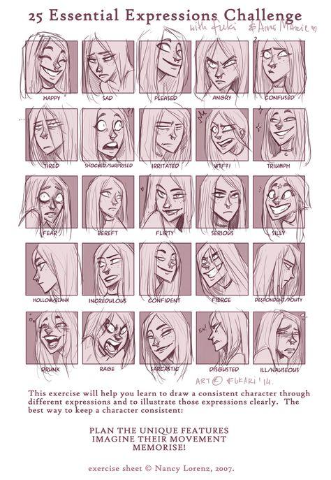 expression sheet - Anne Marie by Fukari on DeviantArt
