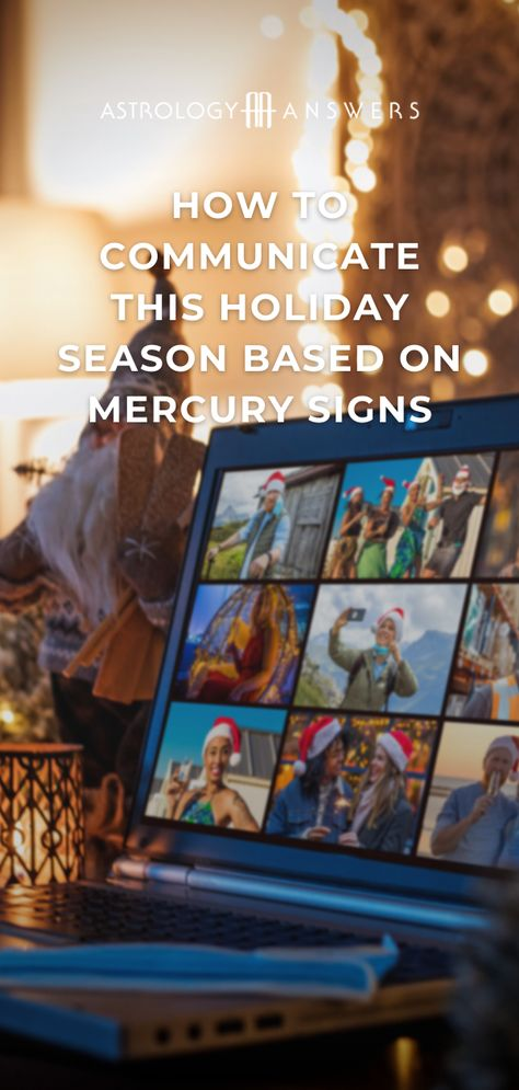 This time of year tends to put a huge amount of pressure on everyone. With the power of our Mercury sign, we can communicate better and enjoy the holiday season. #mercurysign #holidayastrology #christmasastrology #astrology #astrologycommunication #alonetogether