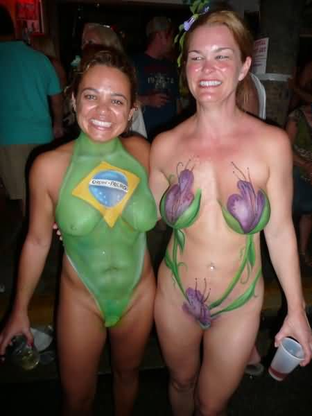 You Nude body paint women in key west magnificent