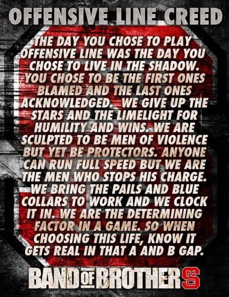 The Offensive Line Creed - FootballScoop | Football quotes ...