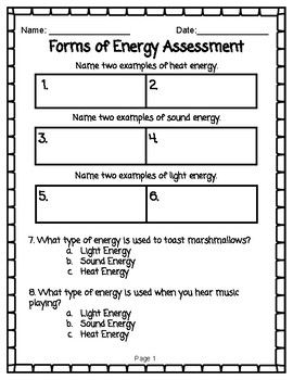 Forms Of Energy Assessment Tek 2 6a Energy Assessment How To