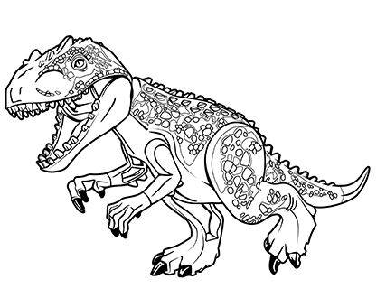 Lego Jurassic World Coloring Pages# 2433929 | Coloring pages ...
