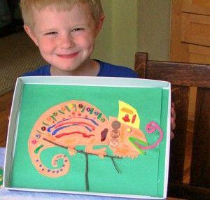 fun sensory lizard for Reptile theme
