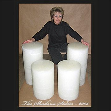 12x22 Or 12x24 Inch Tall Giant Round Candle Round Candles