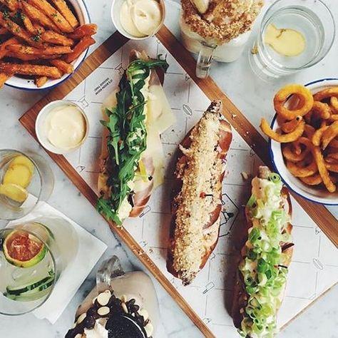 On some days we eat salads, on others we don't - it's called balance.. #sun #hot #summer #terrace #heatwave #freakalicious#shakes #cocktails #cold #iceicebaby #hotdogs #fries #sweetpotato #crispy #choices #cravings #guiltypleasure #eatit #tasteit #drinkit #itsworthit #dietfood #onmonday #now #justenjoy @bullsanddogs #rotterdam #kralingen #amsterdam #foodhallen #depijp 📸 @claartjerose