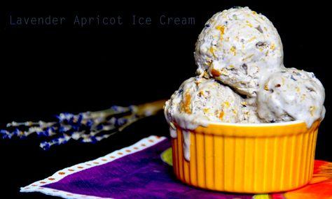 Lavender Apricot Ice cream - No churn, Egg free, Gelatin free