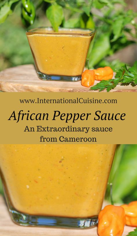 This African pepper sauce recipe from Cameroon is an exceptional sauce. You can tone down the heat with a little mayonnaise and it could be used as a sandwich spread or dip for just about anything. Chutneys, African Pepper Sauce Recipe, Cameroon Food, Hot Sauce Recipes, Jamaican Hot Sauce Recipe, Spicy Sauce, Caribbean Pepper Sauce Recipe, Pickles, Haitian Food Recipes