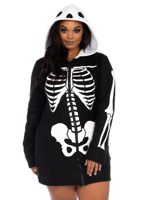 342d034afe Cozy Skeleton Plus Size Costume | Women's Costumes | Skeleton dress ...
