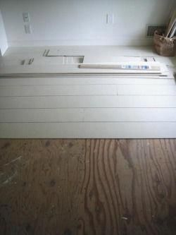 Low Cost Painted Wood Floors Basement Remodel