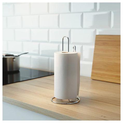 métal blanc InterDesign Rondo Mural Cuisine Serviette en Papier Porte-Rouleau