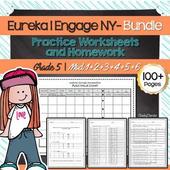 Eureka Math Engage Ny 5th Grade Worksheets All Modules Bundle Eureka Math Engage Ny 5th Grade Worksheets Eureka math grade module worksheets