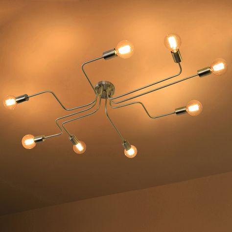 Edison Bulb Wrought Iron 8 Light