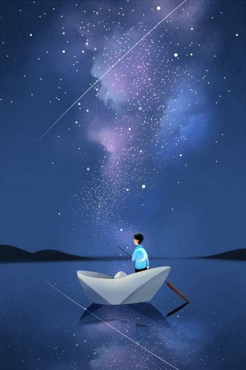 Millions Of Png Images Backgrounds And Vectors For Free Download Pngtree Night Illustration Night Sky Drawing Boat Illustration
