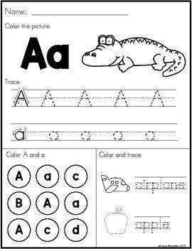 Back to School Preschool Morning Work | September preschool ...