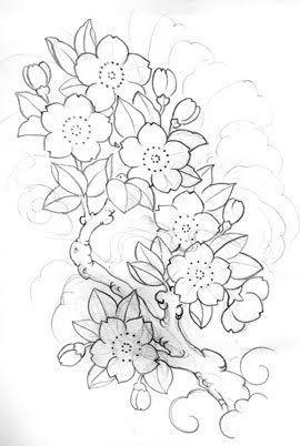 Authntik Tattoo Design Japanese Tattoo Art Sakura Tattoo Cherry Blossom Drawing