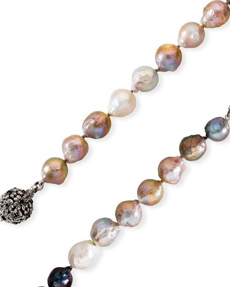 Stephen Dweck Long Multicolored Baroque Pearl Necklace In 2020 Baroque Pearl Necklace Baroque Pearls Wire Work Jewelry